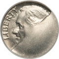 Errors, Undated Roosevelt Dime -- Major Obverse Die Break -- MS63 PCGS....