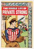 Silver Age (1956-1969):Superhero, The Double Life of Private Strong #1 (Archie, 1959) Condition: FN-....