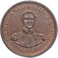 Coins of Hawaii, 1847 1C Hawaii Cent MS64 Brown PCGS. CAC. M. 2CC-5....