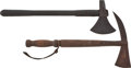 Military & Patriotic:Foreign Wars, 2 19th Century Naval Boarding Axes... (Total: 2 Items)