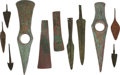 Edged Weapons:Other Edged Weapons, Group Of Eleven Ancient Weapons / Tools / and Projectile Points.... (Total: 11 Items)