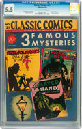 Golden Age (1938-1955):Classics Illustrated, Classic Comics #21 3 Famous Mysteries - First Edition 1A(Gilberton, 1944) CGC FN- 5.5 Cream to off-white pages....