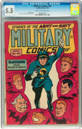 Golden Age (1938-1955):War, Military Comics #40 (Quality, 1945) CGC FN- 5.5 Cream to off-whitepages....