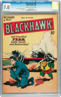 Golden Age (1938-1955):War, Blackhawk #22 (Quality, 1948) CGC FN/VF 7.0 Cream to off-white pages....