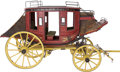 Antiques:Decorative Americana, Concord Stagecoach: A Marvelous, Large Handcrafted Scale Model. ...