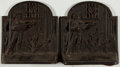 "Books:Prints & Leaves, [Bookends]. Pair of Matching Spanish Motif Bookends. Each measures5.5"" tall x 5"" wide x 2"" deep. Very good.... (Total: 2 Items)"