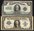 Canadian Currency: , Canada and USA 1923 $1s.. ... (Total: 2 notes)