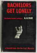 Books:Mystery & Detective Fiction, [Erle Stanley Gardner]. Bachelors Get Lonely. Morrow, 1961.Very good....
