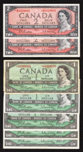 Canadian Currency: , An Assortment of Seven Canadian Replacement Notes.. ... (Total: 7notes)