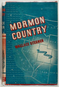 Books:Americana & American History, Wallace Stegner. Mormon Country. Duell, Sloan & Pearce,1942. Second printing. Very good....
