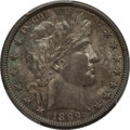 Barber Half Dollars: , 1899-O 50C AU58 PCGS. PCGS Population (10/73). NGC Census: (7/53).Mintage: 1,724,000. Numismedia Wsl. Price for problem fr...