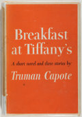 Books:Fiction, Truman Capote. Breakfast at Tiffany's. Random House, 1958.Very good....