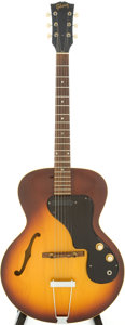 Musical Instruments:Electric Guitars, 1967 Gibson ES-120T Sunburst Semi-Hollow Body Electric Guitar,Serial # 875216....