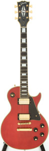 Musical Instruments:Electric Guitars, 1974 Gibson Les Paul Custom Red Solid Body Electric Guitar, Serial# 179797....