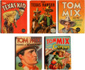 Big Little Book:Miscellaneous, Big Little Book Western Group (Whitman, 1936-40) Condition: AverageVF.... (Total: 5 Comic Books)