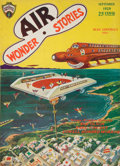 Pulp, Pulp-like, Digests, and Paperback Art, Air Wonder Stories pulp group. 7/29-12/29 and 1/30-5/30, 11total. Average condition: VG/Fine. From the Jerry Weist ...(Total: 11 Items)