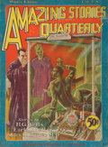 Pulp, Pulp-like, Digests, and Paperback Art, Amazing Stories Quarterly pulp group. 1928-1930 inclusive, 12total. Average condition: VG/Fine. From the Jerry Weis...(Total: 12 Items)