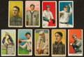 """Baseball Cards:Lots, 1909-11 T206 White Border Tobacco Card Collection (9) With""""Tolstoi"""" Backs. ..."""