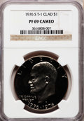 Proof Eisenhower Dollars: , 1976-S $1 Clad, Type One PR69 Cameo NGC. NGC Census: (127/0). PCGSPopulation (24/0). Numismedia Wsl. Price for problem fr...