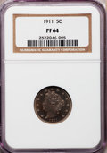 Proof Liberty Nickels: , 1911 5C PR64 NGC. NGC Census: (171/247). PCGS Population (206/165).Mintage: 1,733. Numismedia Wsl. Price for problem free ...