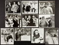 Football Collectibles:Photos, 1960's Vince Lombardi Original Photographs Lot of 10 - With Famed Chalkboard Image....