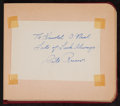 Baseball Collectibles:Others, 1940's and 1950's Baseball Stars and Notables Signed Autograph Book- 15+ Signatures....