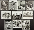 Football Collectibles:Photos, 1960's Green Bay Packers NFL Hall of Famers Original PhotographsLot of 10....