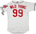 """Baseball Collectibles:Uniforms, Charlie Sheen """"Wild Thing"""" Signed Cleveland Indians Jersey...."""