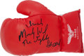 """Boxing Collectibles:Autographs, Mickey Ward and Dick Eklund """"The Fighter"""" Multi Signed BoxingGlove...."""