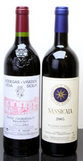 Italy, Sassicaia . 2005 Tenuta San Guido Bottle (1). Vega SiciliaValbuena . 2003 5* #104420 Bottle (1). ... (Total: 2 Btls. )