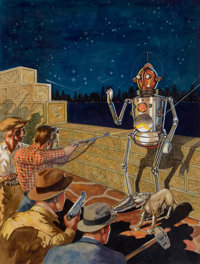 ROBERT FUQUA (American, 20th Century) I, Robot, Amazing Stories pulp cover, January 1939 Gouache, wa