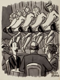 "Pulp, Pulp-like, Digests, and Paperback Art, PETER ARNO (American, 1904-1968). ""It Isn't Often One Sees aBowler These Days"", New Yorker magazine cartoon illustration..."