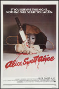 "Movie Posters:Horror, Alice, Sweet Alice (Allied Artists, 1977). One Sheet (27"" X 41"") & Lobby Cards (7) (11"" X 14""). Horror.. ... (Total: 8 Items)"