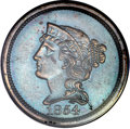 Patterns, 1854 P1C One Cent, Judd-161 Original, Pollock-187, R.4, PR64 BrownPCGS. CAC....