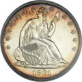 Patterns, 1861 P50C Half Dollar, Judd-277, Pollock-326, 328, Low R.7, PR63PCGS....