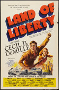 """Movie Posters:Documentary, Land of Liberty (MGM, 1939). One Sheet (27"""" X 41""""). Documentary.. ..."""