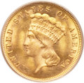 Three Dollar Gold Pieces, 1882 $3 MS64 PCGS....