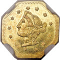 California Fractional Gold, 1870 $1 Goofy Head Octagonal 1 Dollar, BG-1118, Low R.5, MS64Prooflike NGC....