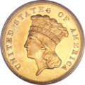 Three Dollar Gold Pieces, 1880 $3 MS63 PCGS. CAC....