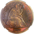 Patterns, 1866 $1 Dollar, Judd-541, Pollock-606, Low R.6 -- Obverse Scratched -- NGC Details. Proof....
