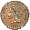 Patterns, 1867 5C Five Cents, Judd-564, Pollock-625, High R.7, PR64 Brown PCGS....