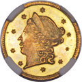 California Fractional Gold, 1859 25C Liberty Round 25 Cents, BG-801, R.3, MS67 NGC....