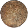 Patterns, 1880 $1 Goloid Metric Dollar, Judd-1652, Pollock-1852, High R.6,PR63 Brown PCGS....
