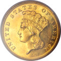 Proof Three Dollar Gold Pieces, 1888 $3 PR62 PCGS....