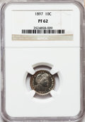 Proof Barber Dimes: , 1897 10C PR62 NGC. NGC Census: (12/150). PCGS Population (9/190).Mintage: 731. Numismedia Wsl. Price for problem free NGC/...