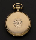 Timepieces:Pocket (post 1900), Mint 14k Gold Waltham 12 Size Hunter's Case Pocket Watch. ...