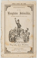 Books:Americana & American History, Proceedings of the Bungtown Invincibles. 1859. Twelvemo.Good....