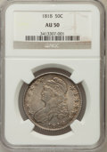 Bust Half Dollars: , 1818 50C AU50 NGC. NGC Census: (41/315). PCGS Population (89/295).Mintage: 1,960,322. Numismedia Wsl. Price for problem fr...