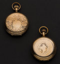 Timepieces:Pocket (post 1900), Seth Thomas & Elgin Gold Filled Hunter's Case Pocket Watches Runners. ... (Total: 2 Items)