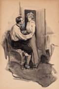 Mainstream Illustration, WILL GREFE (American, 1875-1957). Consolation. Watercolor onboard. 27 x 18 in.. Signed lower right. From the Estate...